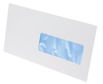 Gallery enveloppen ft 114 x 229 mm, venster rechts, stripsluiting, doos van 500 stuks