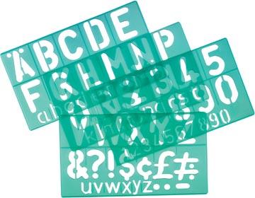 Linex lettersjabloon van 50 mm, set van 4 stuks