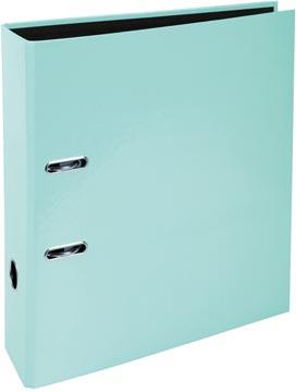 Exacompta Aquarel ordner uit karton met gecoat papier, ft A4, rug van 8 cm, pastelgroen