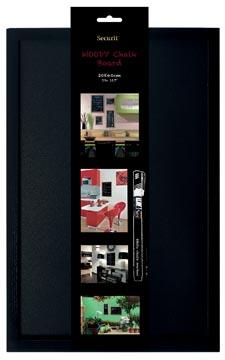 Securit krijtbord Woody ft 40 x 60 cm, zwart