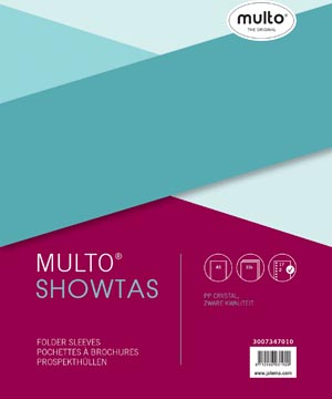 Multo geperforeerde showtas ft A5, 17-gaatsperforatie, glashelder