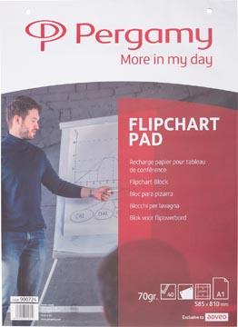 Pergamy flipchartpapier ft A1 (58,5 x 81 cm), geruit, pak met 40 blad