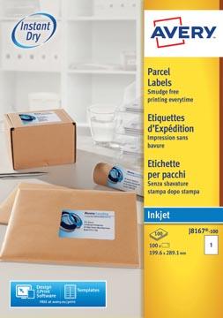 Avery J8167-10 adresetiketten ft 199,6 x 289,1 mm (b x h), 10 etiketten, wit
