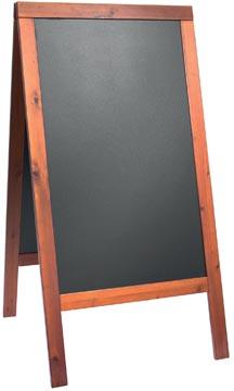 Securit stoepbord Woody mahonie ft 70 x 125 cm